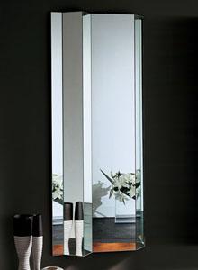 Glas Italia Kingdom Folded Modern Wall Mirror Stardust