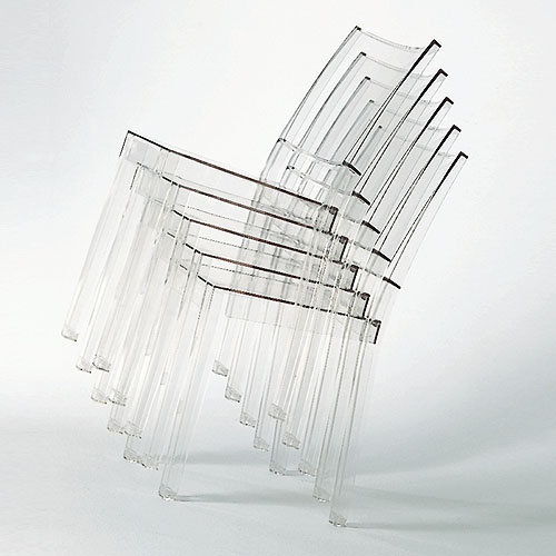 LA MARIE modern Stacking chair by Kartell Transparent Stardust