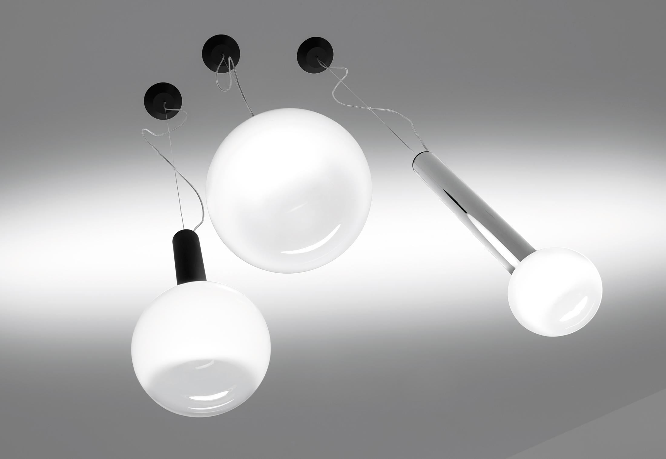 Laguna modern hanging glass pendant lamp shade by artemide artemide laguna modern glass pendant suspension light arubaitofo Gallery