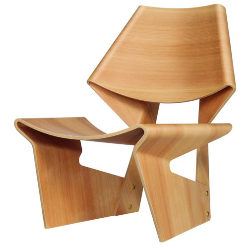 Vitra Miniature Laminated Chair By Grete Jalk Stardust