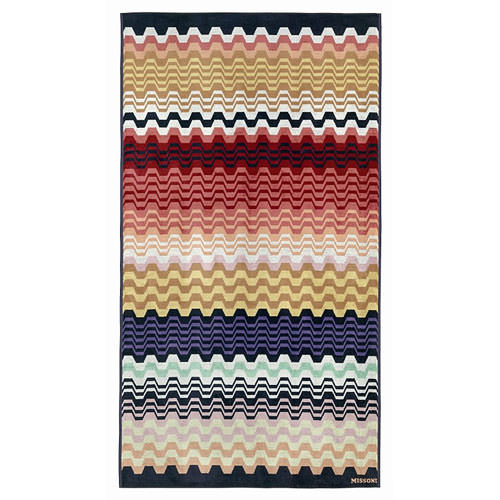 Missoni home lara 156 modern beach towel stardust for Stardust purple bath collection