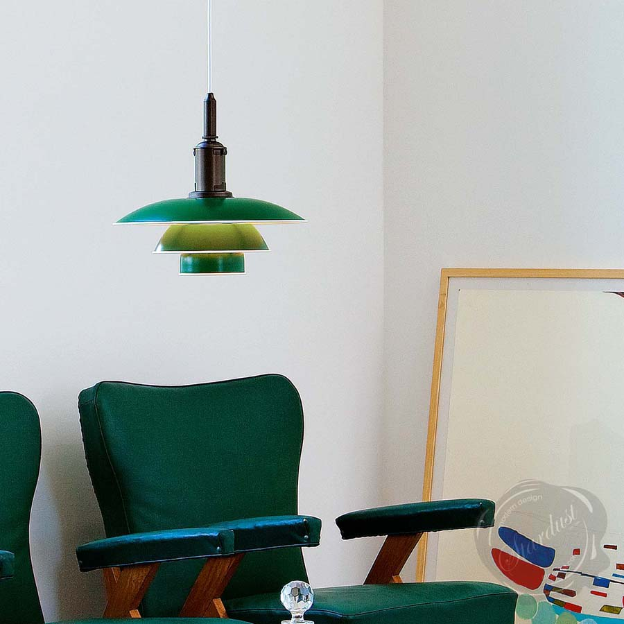 Louis Poulsen Ph 3 1 2 Danish Mid Century Modern Pendant Light Stardust
