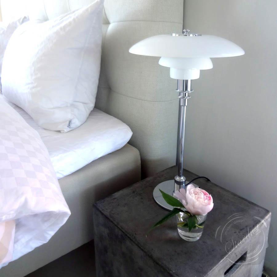Louis Poulsen PH 3/2 Modern Glass Table Lamp By Poul Henningsen