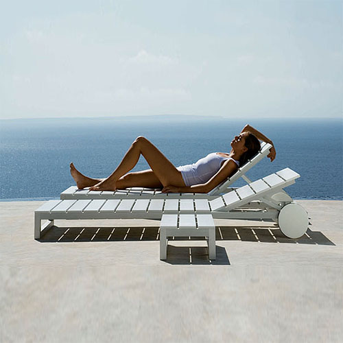 Chaise Lounge Outdoor.Gandia Blasco Tumbona Saler Chaise Lounge Outdoor Sun Lounger