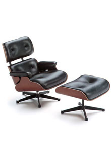 Vitra Miniature 5.5 Inch Eames Lounge Chair And Ottoman ...
