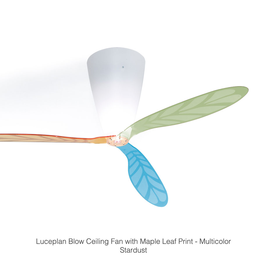 luceplan blow fan modern ceiling fan with light stardust