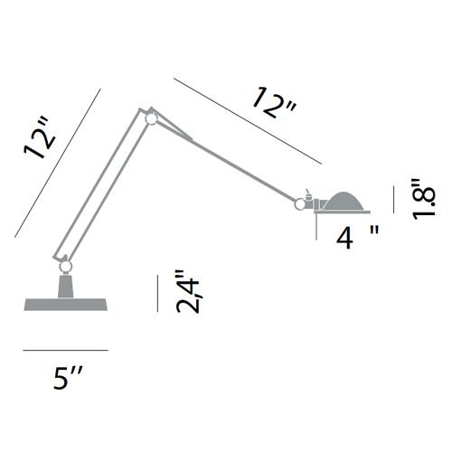 luceplan berenice small table task lamp