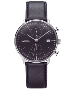 Junghans Max Bill Chronoscope Watch in Black