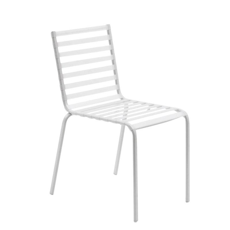 striped garden chair jasper morrison magis, white - sample sale