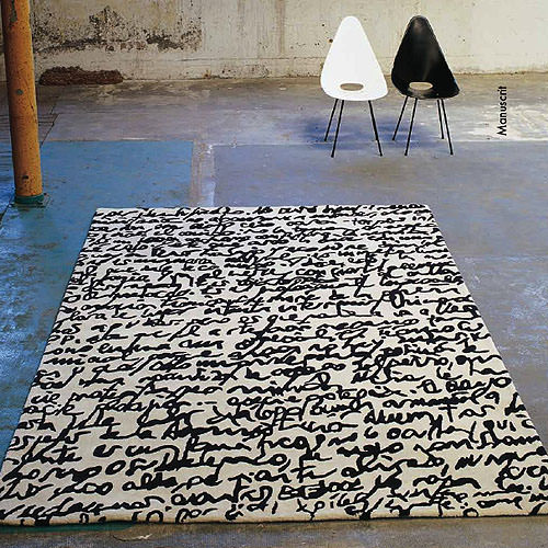 Nanimarquina Black On White Manuscrit Rug Stardust