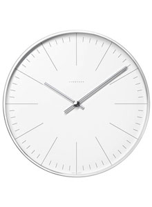 junghans clocks wall clock with lines by max bill. Black Bedroom Furniture Sets. Home Design Ideas