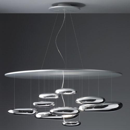 Exceptional Artemide Mercury Suspension Lamp By Ross Lovegrove