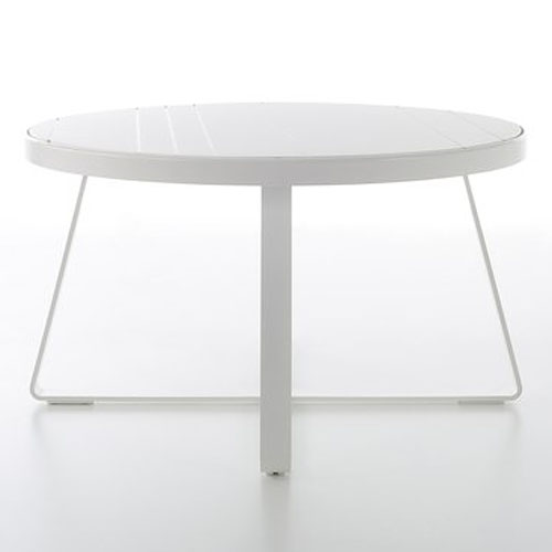 Gandia Blasco Mesa Alta Circular Flat Modern Outdoor Dining Table