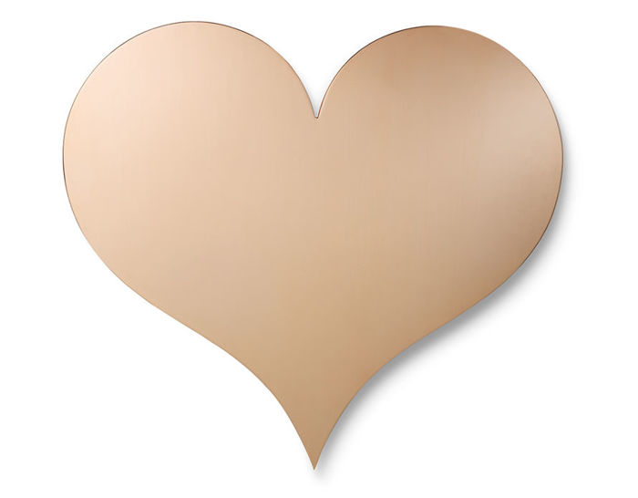 Heart Metal Wall Relief (Copper) by Alexander Girard for Vitra