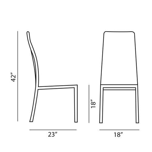 Bonaldo Milena Modern Dining Chair by James Bronte Stardust