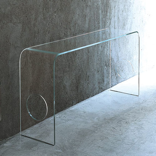 Merveilleux Glas Italia Ming Glass Hall Console Table ...