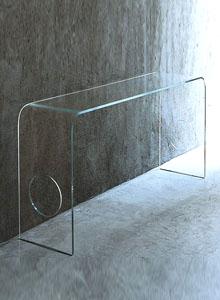 Exceptionnel Glas Italia Ming Glass Hall Console Table By Piero Lissoni ...