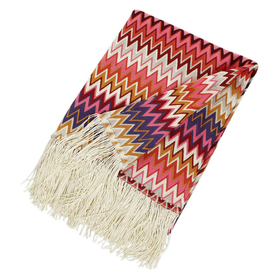 missoni home margot throw  in a vibrant color palette  stardust - missoni home margot throw