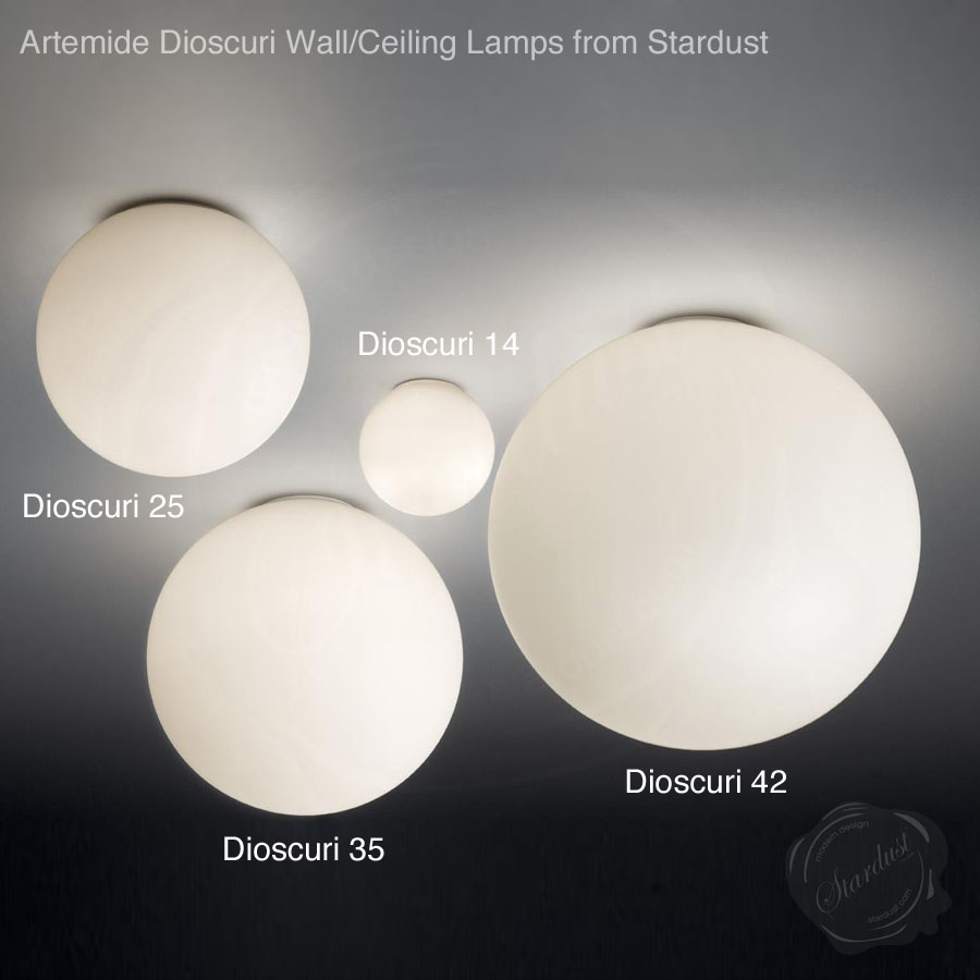 artemide dioscuri  wallceiling lamp by michele de lucchi  stardust - artemide dioscuri  wallceiling lamp