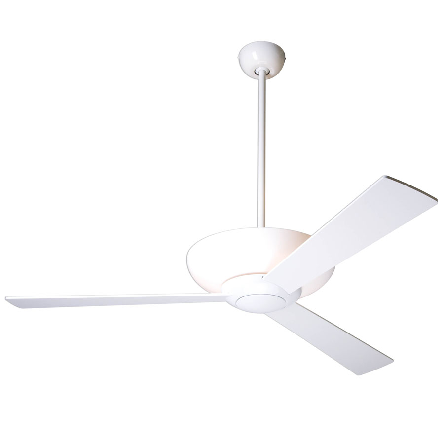 aurora ceiling fan  white with light  the modern fan company - aurora ceiling fan by the modern