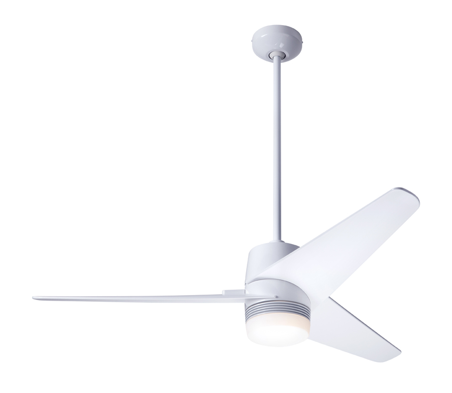 company brushed ceiling co aluminum youtube cirrus watch modern in fan ceilings