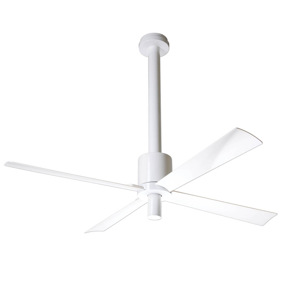Modern ceiling fan hover or click to zoom a modern ceiling fan in our bedroom chris loves julia - Modern white ceiling fan ...