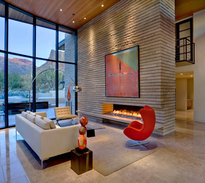 Design Icons: The Flos Arco Lamp and Fritz Hansen Egg Chair look at their  best at this wonderfully appointed modernist Tucson residence designed by  ...