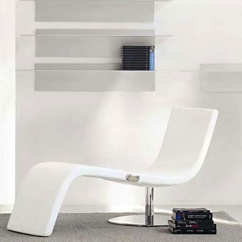 Bonaldo Dragonfly Modern Chaise Lounge Chair By Karim Rashid