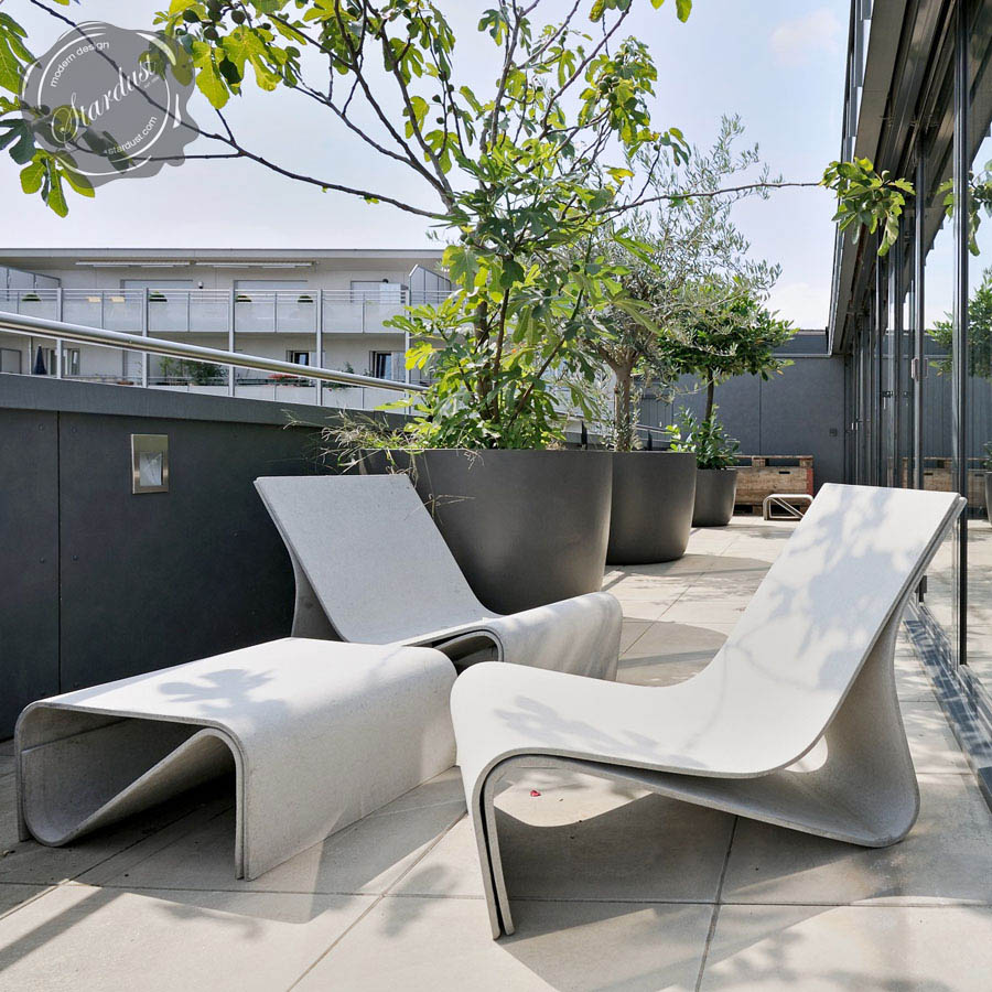 Sponeck Chair Modern Concrete Architectural Design Garden Chair