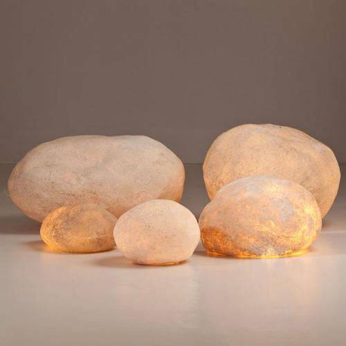 luminous rock modern floor lamps by andre cazenave stardust