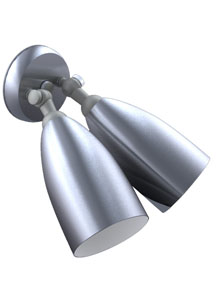 Modern Outdoor Double Cone Bullet Wall Sconce 1950s