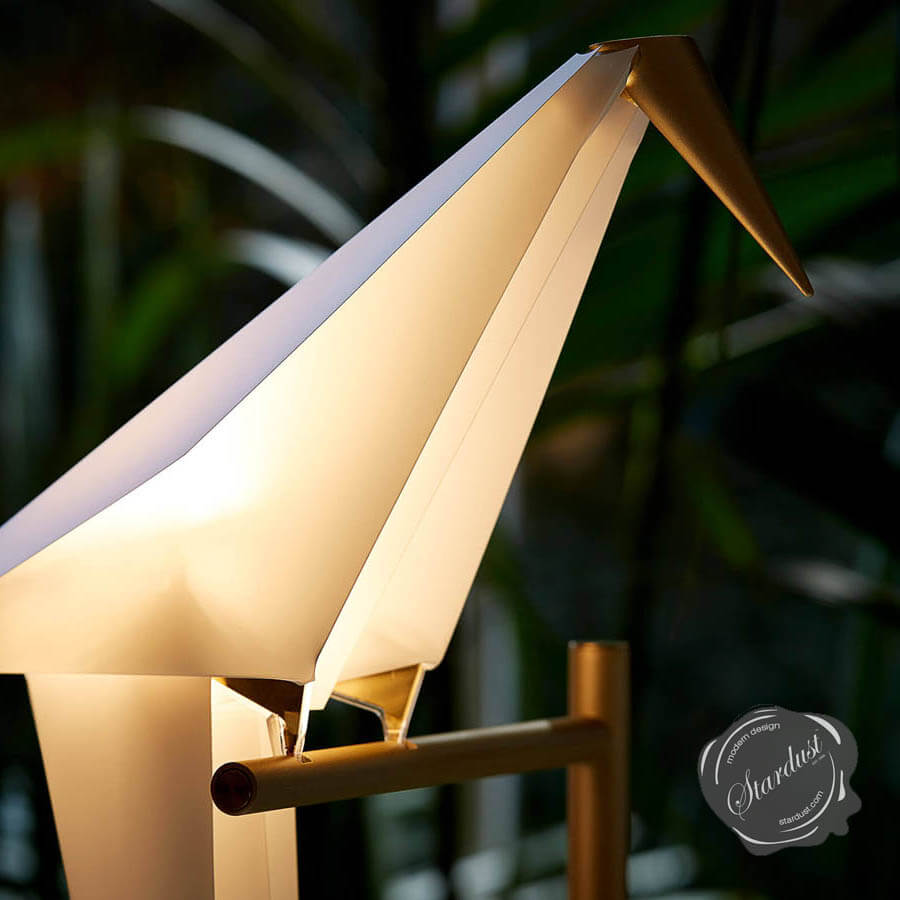 Perch Table Lamp With Bird Light By Moooi