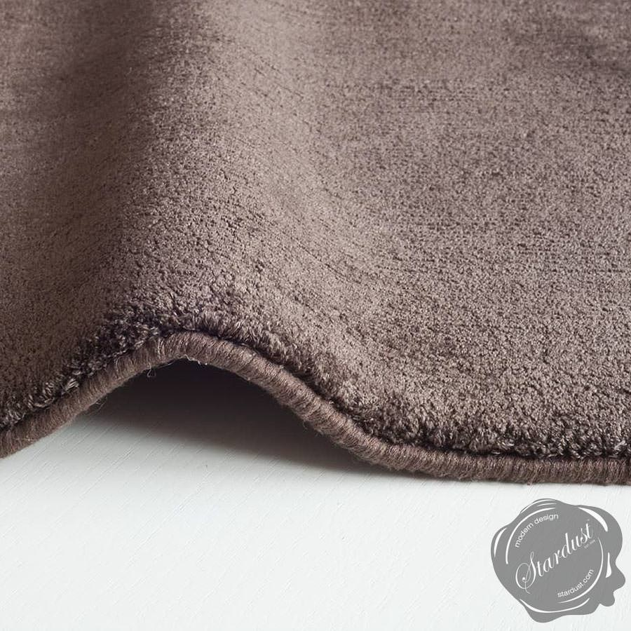 Nanimarquina Natural Butterfly Silk Rug Chocolate Brown