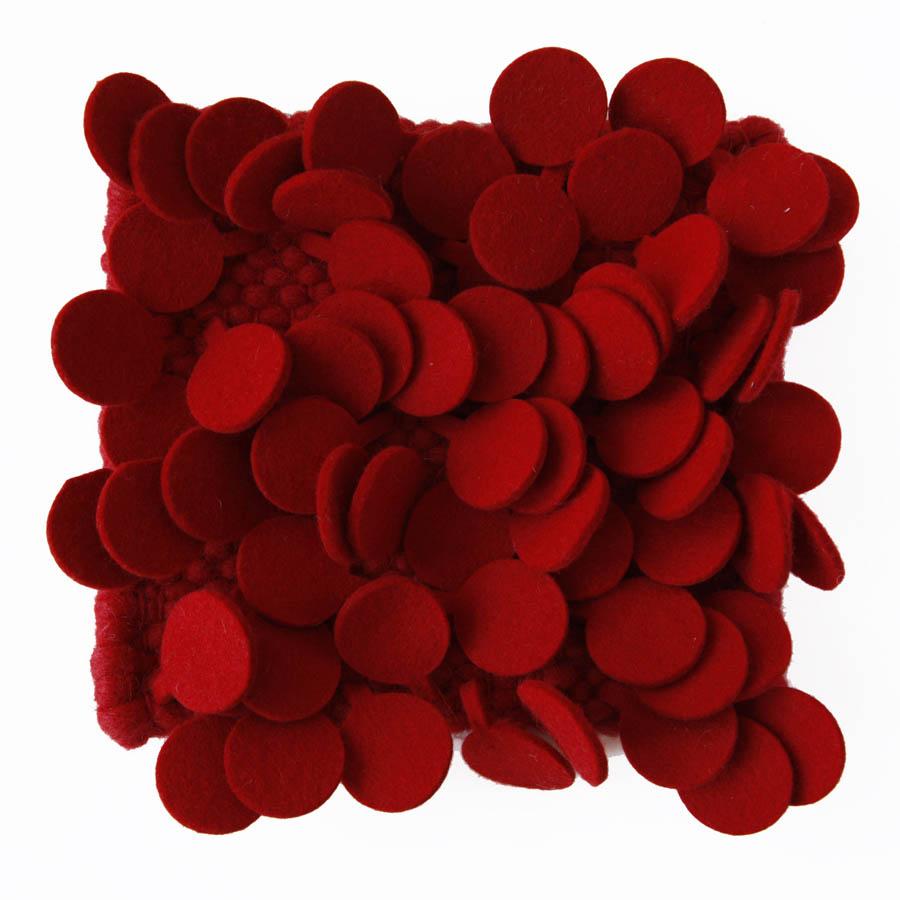 nanimarquina roses rug high pile felt area rug in red. Black Bedroom Furniture Sets. Home Design Ideas