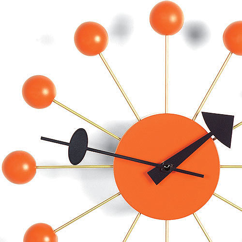 vitra nelson ball clock orange by george nelson stardust. Black Bedroom Furniture Sets. Home Design Ideas