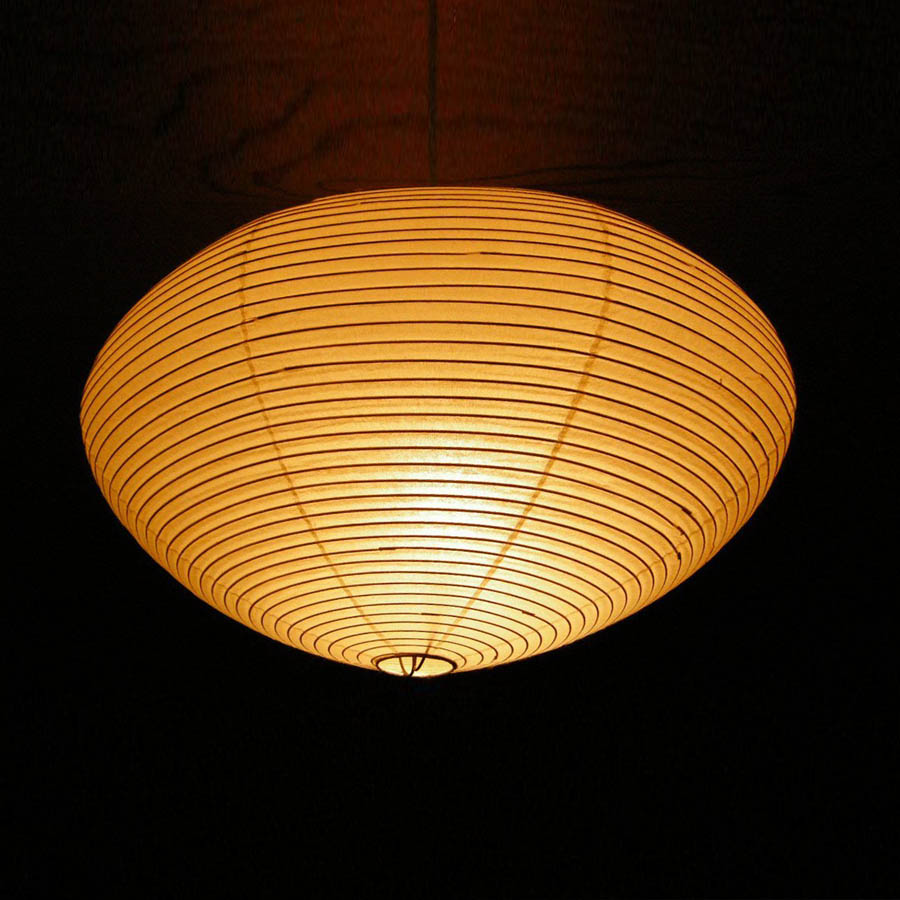 Noguchi lamp stardust noguchi 15a21a26a japanese paper saucer pendant akari lamp mozeypictures Images