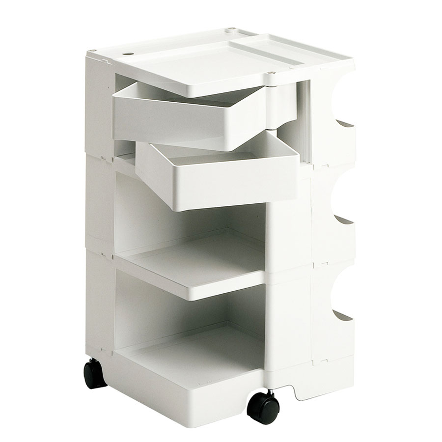 joe colombo boby mobile office desks with storage