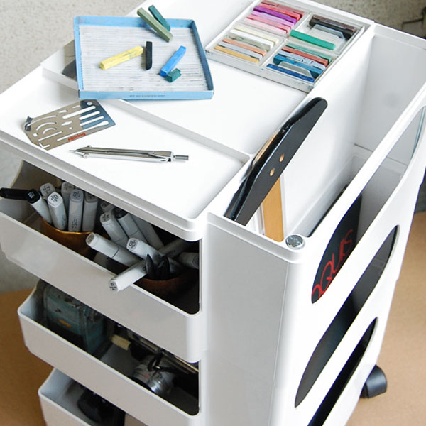 Office Under Desk Storage Joe Colombo Boby Mobile Office ...