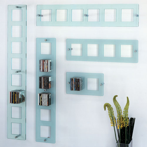 Glas Italia On Air Porta Modern Wall Mounted Cd Shelf