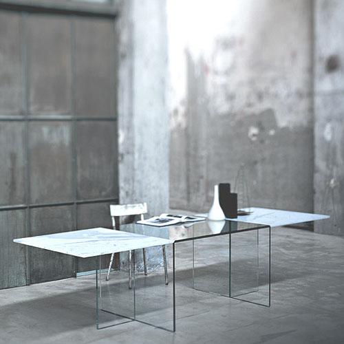Glas italia oriente occidente modern dining table stardust for Orient kitchen boca