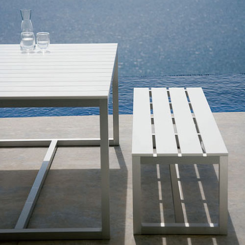 Gandia Blasco Saler Banco Modern Outdoor Bench