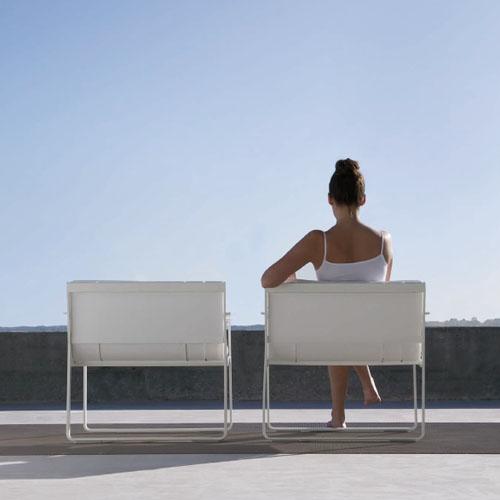 Gandia Blasco Butaca Flat Modern Outdoor Lounge Arm Chair