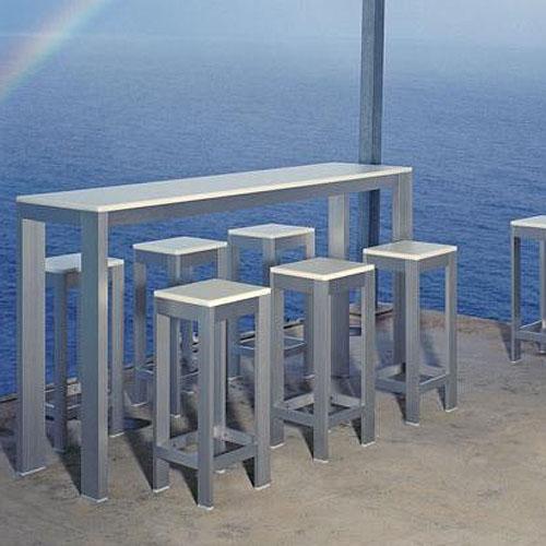 Na xemena mesa bar alta high bar table gandia blasco stardust - Build outdoor bar table ...