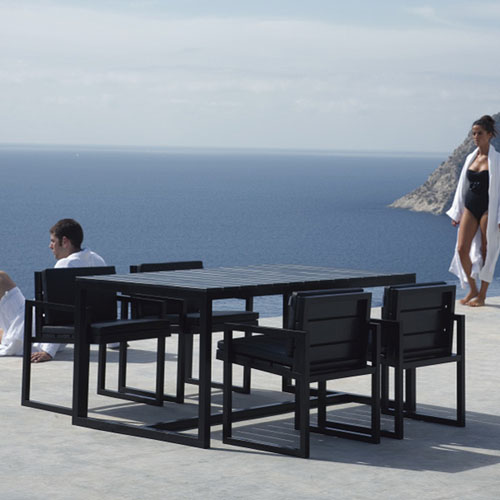Gandia Blasco Mesa Alta Saler Modern Outdoor Dining Table