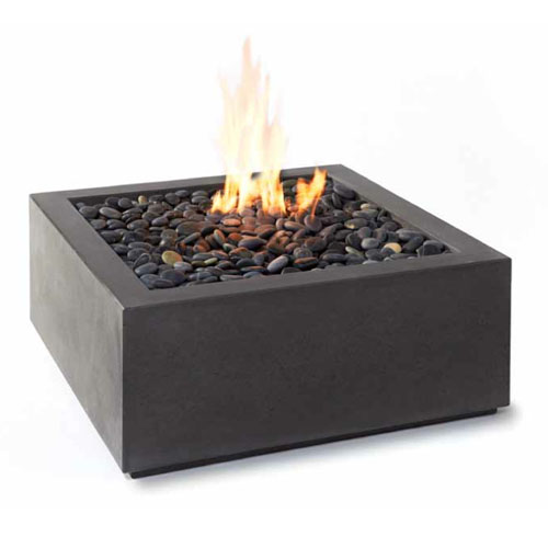 Paloform bento modern square outdoor fire pit stardust for Outdoor modern fire pit