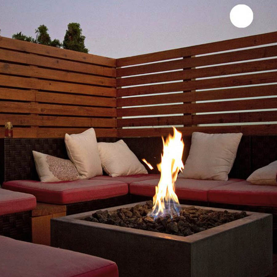 Paloform Bento Modern Square Outdoor Fire Pit | Stardust