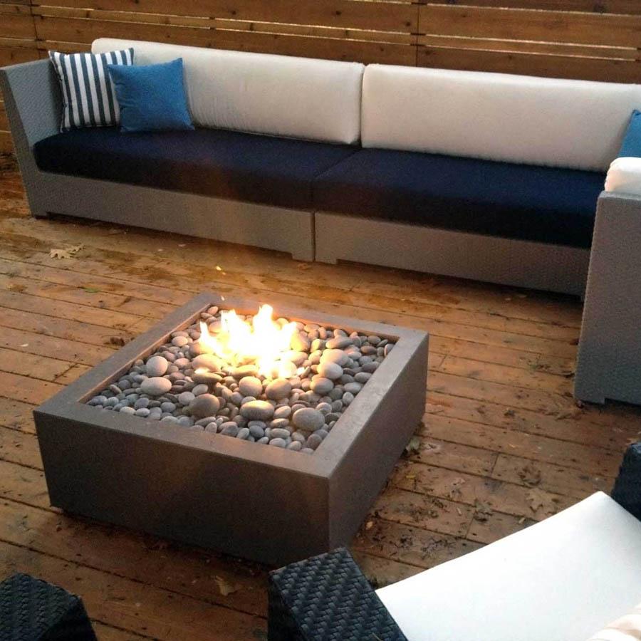 paloform bento modern square outdoor fire pit stardust