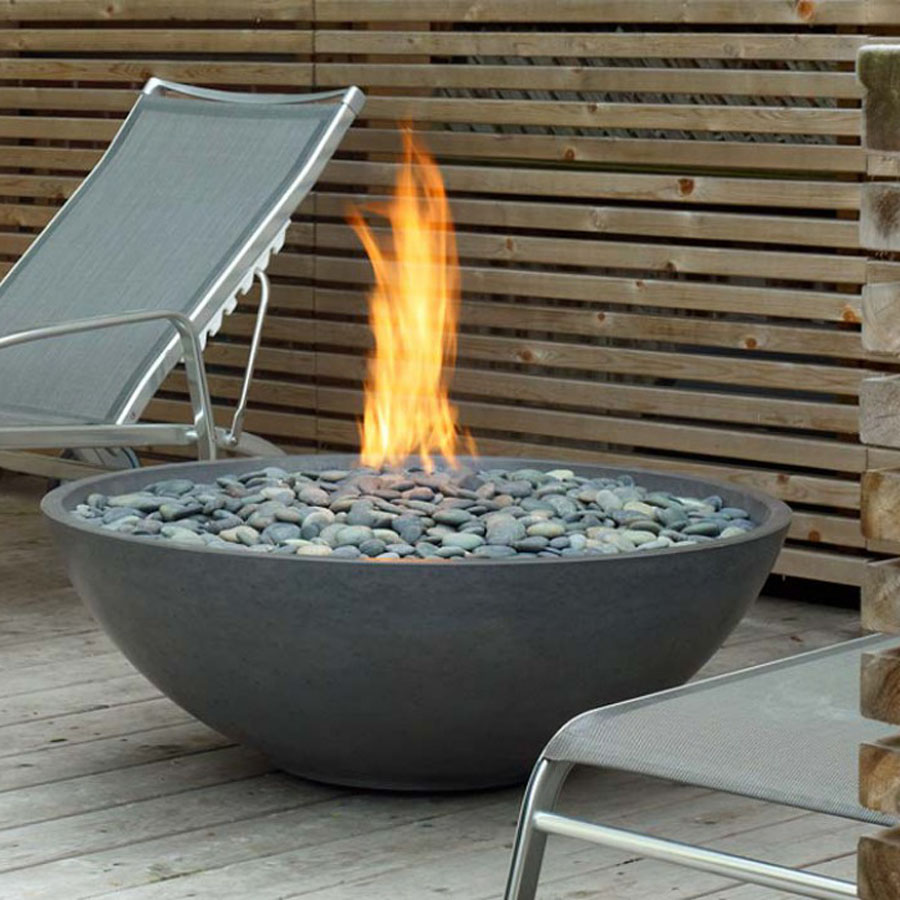 Backyard Fire Bowl paloform miso modern round outdoor fire pit | stardust