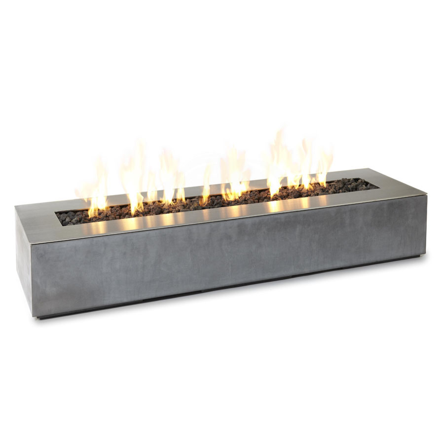 Paloform Robata Modern Rectangular Concrete Outdoor Fire Pit - Paloform Robata Modern Rectangular Concrete Outdoor Fire Pit Stardust