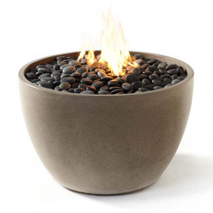 Paloform Soba Modern Round Outdoor Fire Pit Stardust